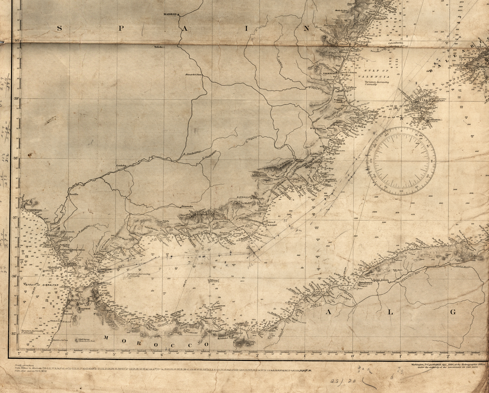 Nautical Chart, Gibraltar
