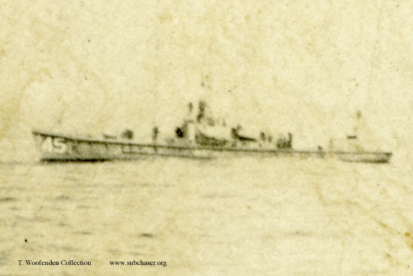 submarine chaser SC 45, mine fields