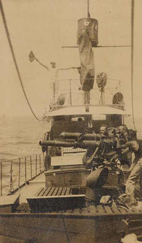 Poole deck gun on subchaser