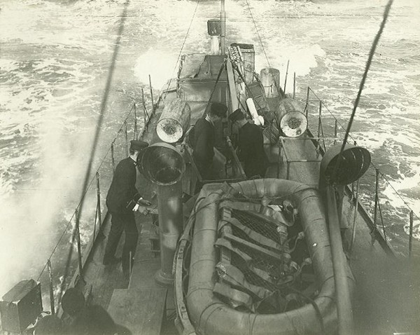 Life raft on subchaser