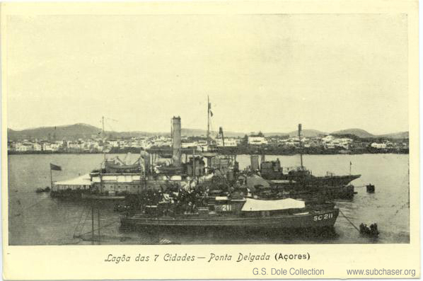 Submarine Chaser SC 211, Azores