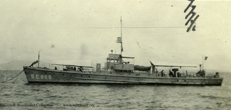 Submarine Chaser SC 286, Canal Zone