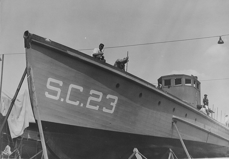 submarine chaser SC 23 under construction