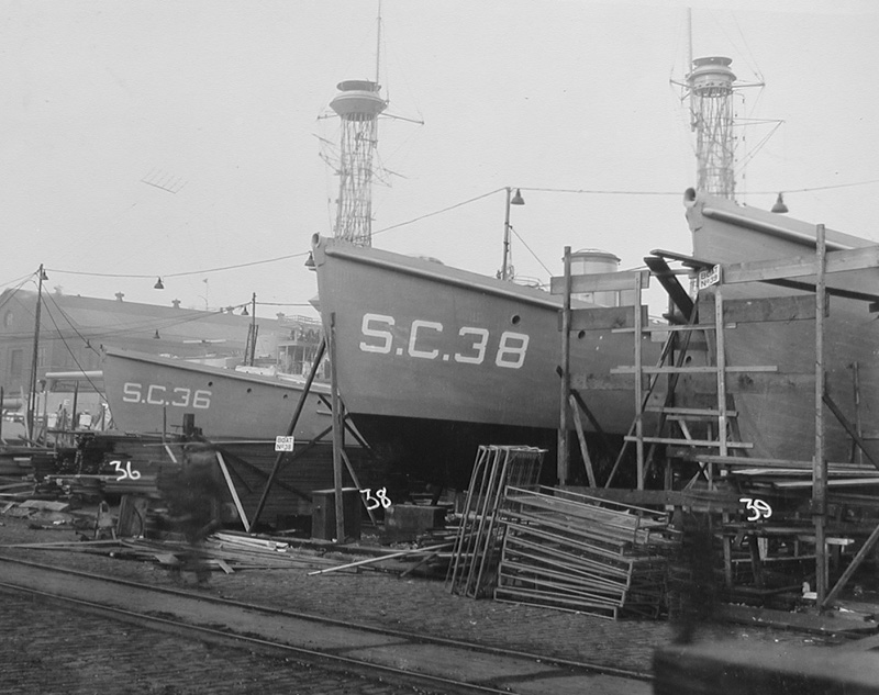 submarine chaser SC 36 and SC 38