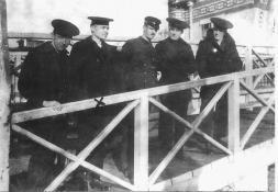 Wayne Anthony and other crewmen, Rotterdam, 1919