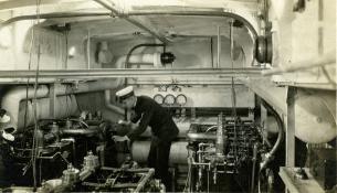 Engine room, presumably SC 181