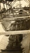 Subchaser hull under construction at Matthews Boat.