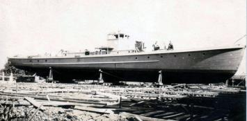 Completed subchaser hull