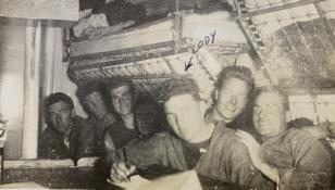 "Below decks. SC 284. MM2 Clyde A. ""Cody"" Carlson photos, Collection of Thomas Manville Brady"