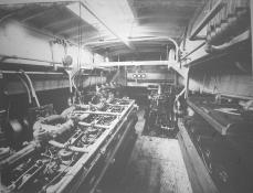 Subchaser engine room. National Archives.