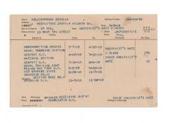 Service record for SC 88 crewman CMM Frank Orville Wilder.