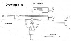 Drawing 9: Colt Machine Gun