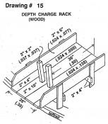 Drawing 15: Depth Charge Rack