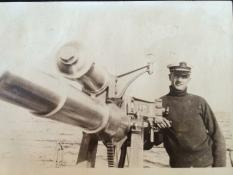 Officers on submarine chaser SC 307, courtesy of Arthur C McKenney.
