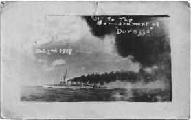 War Ship Firing at Durazzo. Collection of David Imisson.