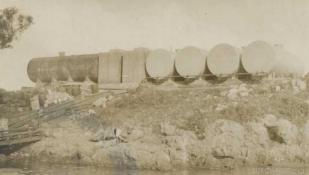 Fuel tanks at Base 25