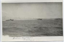 Italian destroyers during the Durazzo engagement of 2 October 1918. G.S. Dole Collection.