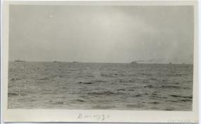 Coming into firing range. The Durazzo engagement of 2 October 1918. G.S. Dole Collection.