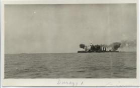 Firing, during the Durazzo engagement of 2 October 1918. G.S. Dole Collection.