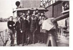 Crew photo, SC 235, courtesy of Debra Kelley, granddaughter of crewman Lorenzo Capone (standing back row, third from the left)