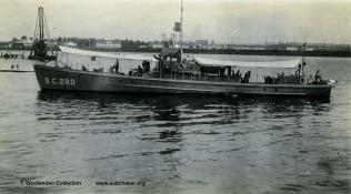 Submarine chaser SC 280. T. Woofenden Collection.
