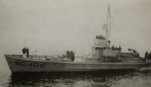 Submarine Chaser SC 408. T. Woofenden Collection
