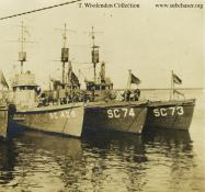 Submarine chaser SC 429. T. Woofenden Collection.