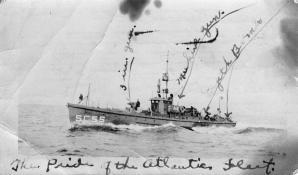 Submarine chaser SC 55. T. Woofenden Collection.