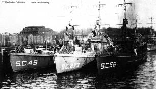 Submarine chaser SC 56. T. Woofenden Collection