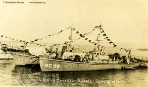 Subchasers SC 338 and SC 96 at Spalato