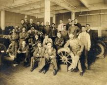 Lansing at auto repair school c. 1916,