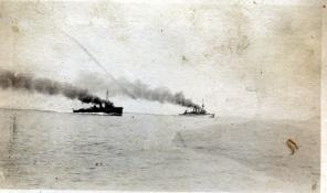 Steaming ahead at Durazzo. Collection of Joe Brier