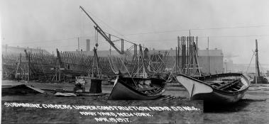 Construction of chasers at the navy yard, New YorkSC 10, SC 11 SC 12 and probabl