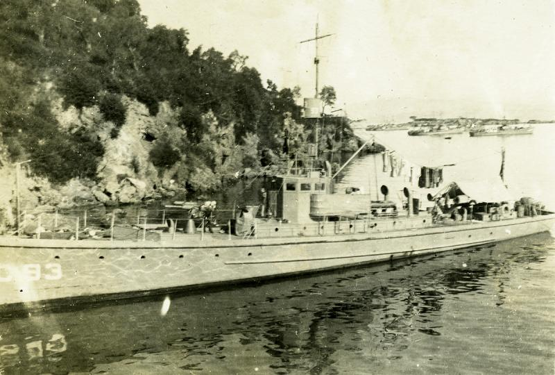 Subchaser SC 93 at American Bay, Corfu. G.S. Dole Collection